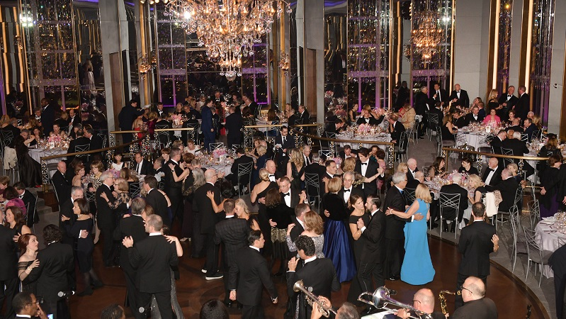 Dining and dancing at The 2019 Valley Ball at The Rainbow Room in New York City