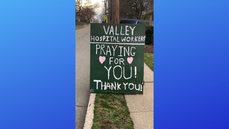 Thanks and encouragement from Valley Health System's neighbors and friends