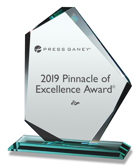 2019 Press Ganey Pinnacle of Excellence Award