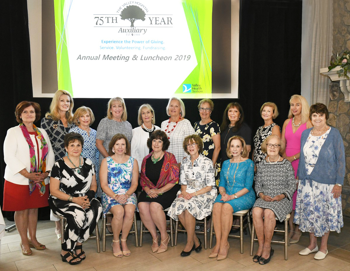 The Valley Hospital Auxiliary Officers for 2019-2020