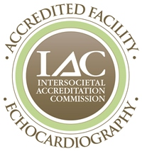 IAC accreditation seal for echocardiography