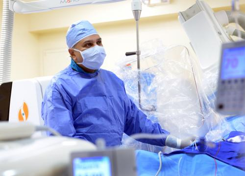 Dr. Suneet Mittal, performing a cardiac electrophysiology procedure.