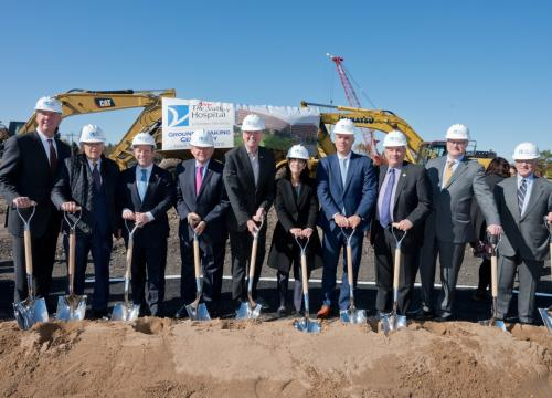 Audrey Meyers, Valley's President and CEO, joined by local and state officials for The New Valley Hospital groundbreaking ceremony