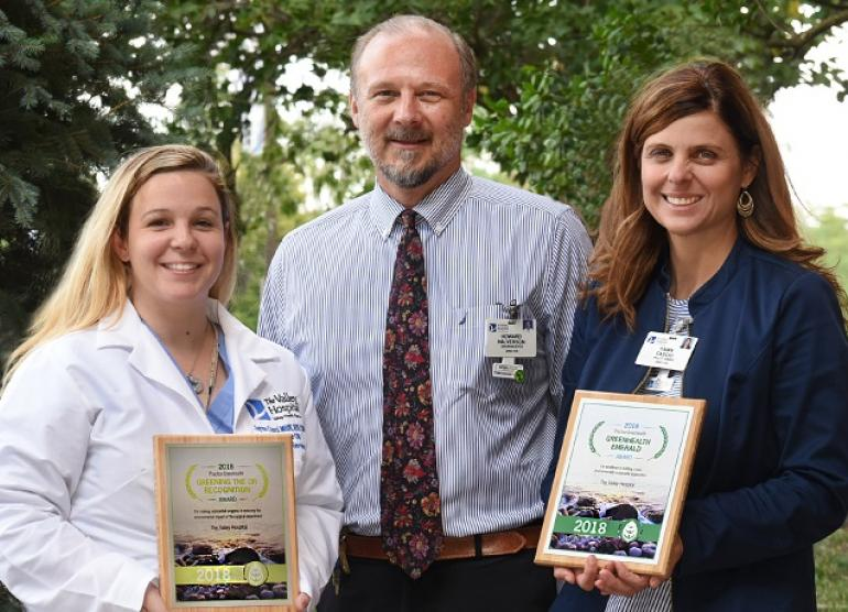 Valley's sustainability awards from Greenhealth