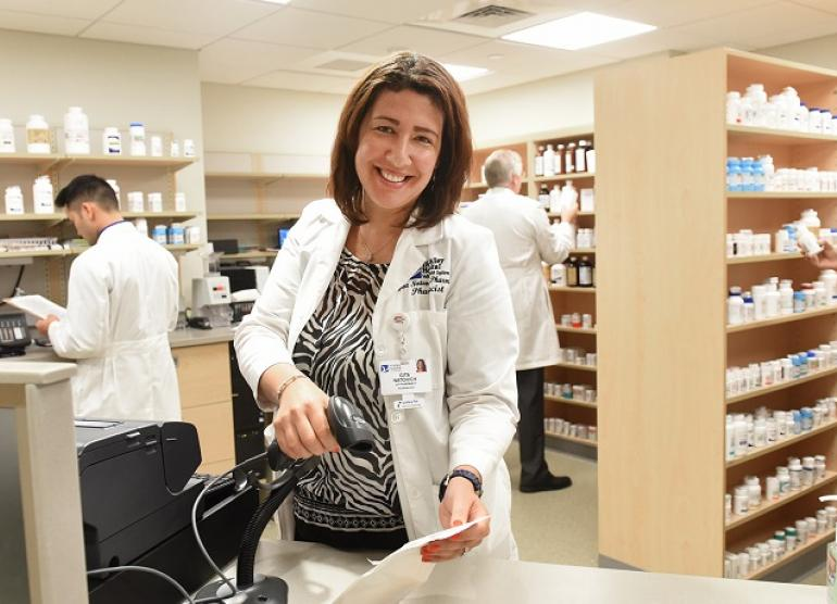 Pharmacist at The Valley Hospital's retail pharmacy