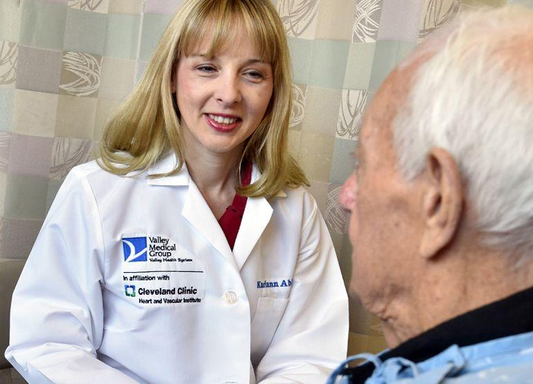 Valley Medical Group doctor with elderly man