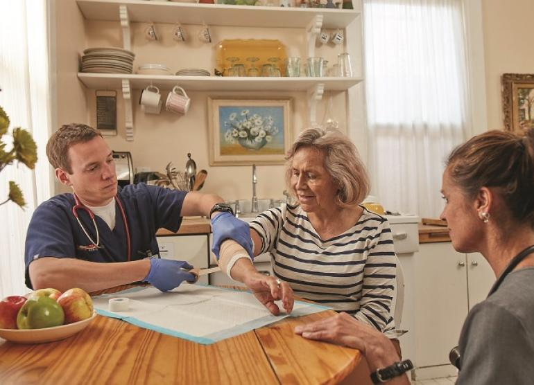 DispatchHealth care for senior woman at home