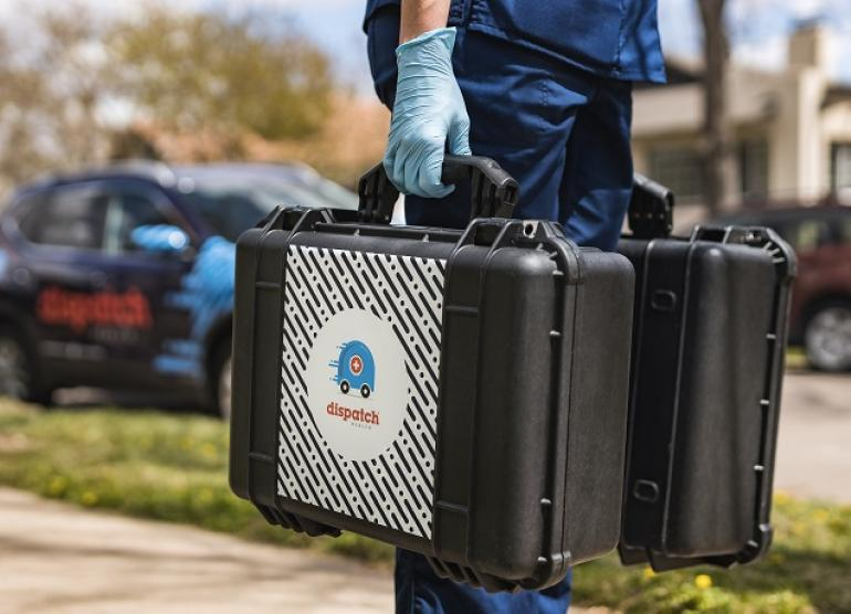 DispatchHealth provider with medical kits